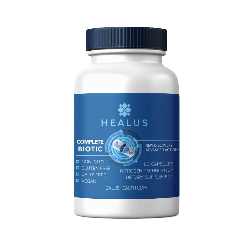 Healus Complete Biotic Butyrate Supplement, Tributyrin Based Butyric Acid Capsules for Gut Health (60 Count)