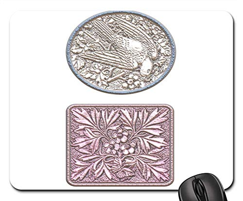 Mouse Pads - Cameo Carving Bird Dove Flowers Leaves Decorative