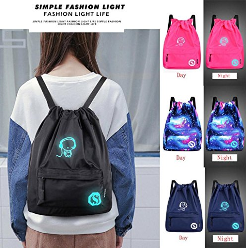 Teenagers Noctilucent Cartoon Fluorescent Storage Bags Lightweight Backpack