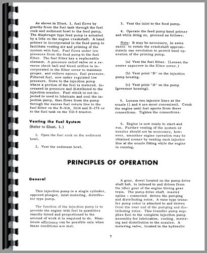 International Harvester B-275 Tractor Diesel Pump Service Manual