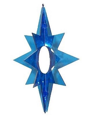 FLASHERZ Plastic SPINNER STAR Shape--BLUE