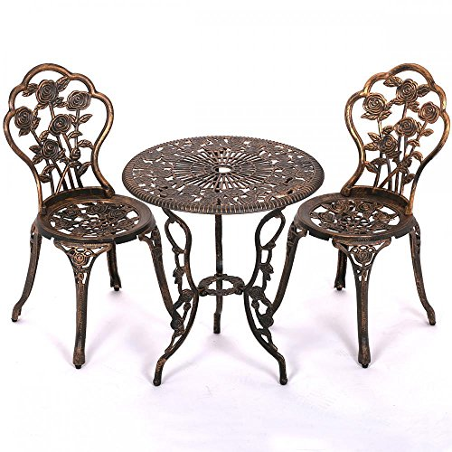 Patio Garden Furniture Sets Patio Furniture Tulip Design Cast Aluminum  Bistro Set in Antique Copper by - Patio Garden Furniture Sets Patio Furniture Tulip Design Cast