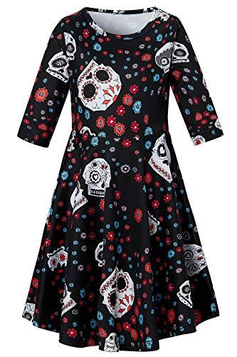 Sugar Skull Dress,5t Toddler Girls Halloween Costumes