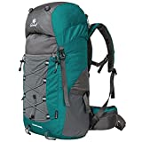 Coreal Unisex 50l Hiking Backpack for Travel Outdoor Sport Camping Trekking Lightweight Dark Green