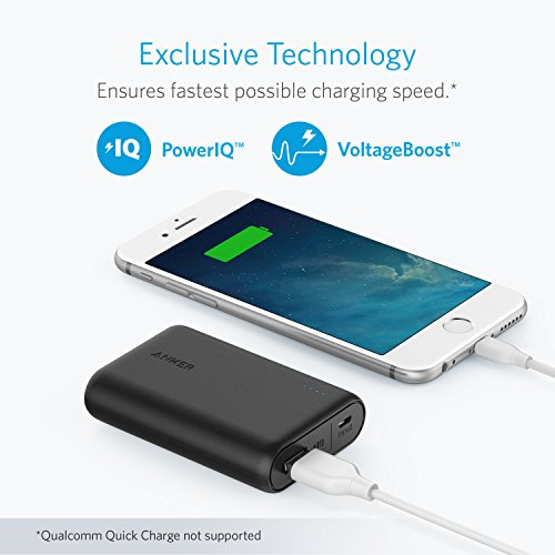 Large Product Image of Anker PowerCore 10000 Portable Charger, One of the Smallest and Lightest 10000mAh External Battery, Ultra-Compact High-speed-Charging-Technology Power Bank for iPhone, Samsung Galaxy and More (Black)