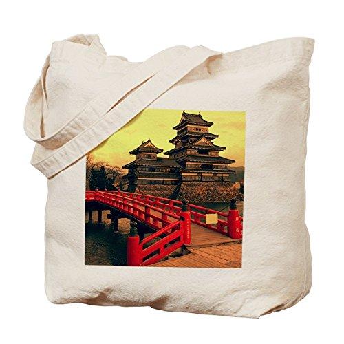 CafePress–Pagoda con puente–Gamuza de bolsa de lona bolsa, bolsa de la compra