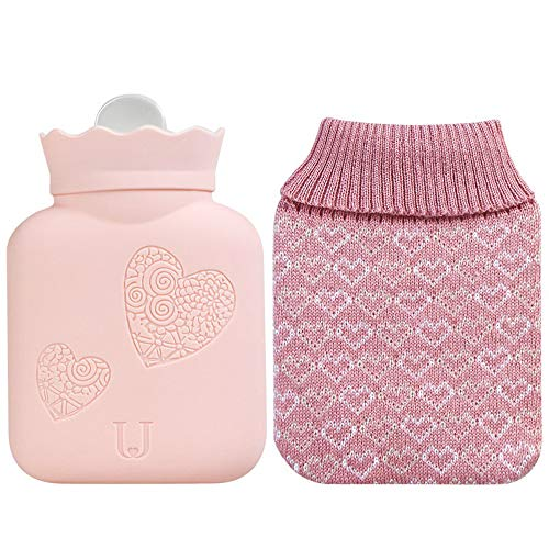 Hot Water Bottle + Knitted Cover,Full Size: Amazon ca: Home