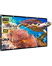 Yisiga 120 Inches Projector Screen,16:9 HD 4K Foldable Anti-Crease Portable Projector Movies Screen for Home Theater Outdoor Indoor Support Double Sided Projection (120Inch)
