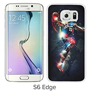 Fashionable Samsung Galaxy S6 Edge Case ,Unique And Popular Designed Case With Cleveland Cavaliers Lebron James 14 White Samsung Galaxy S6 Edge Great Quality Screen Case
