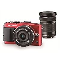 Olympus Mirrorless SLR E-PL6 with ED 14-42mm f/3.5-5.6 EZ and ED 40-150mm f/4.0-5.6 Lens Kit (Red) - International Version Explained Review Image
