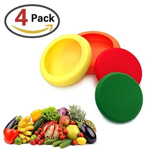 Silicone Food Savers - Food Huggers Storage Cover,Random Color,Set of 4 ML.PRODUCTS