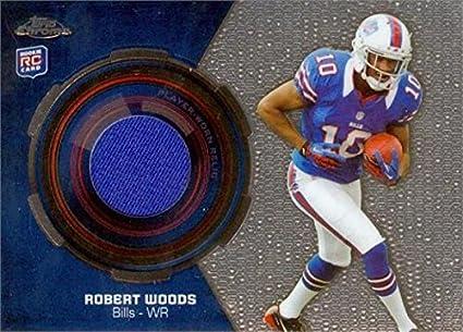 Robert Woods player worn jersey patch football card (Buffalo Bills ...
