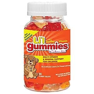 Gominolas para niños - Soporte completo para niños con multivitaminas y hierro, con vitaminas para niños - Li'l Gummies de Mama's Select contiene vitaminas A, C, D, E, B y mucho más - ¡Nueva fórmula mejorada con un sabor estupendo!