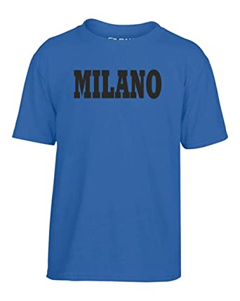 7ce2692b32 Cotton Island - T-shirt for Kids WC0988 MILANO NERO AZZURRA ITALIA CITTA  STEMMA LOGO