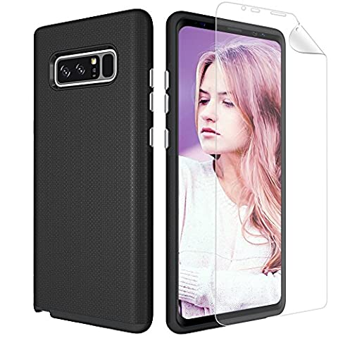 Galaxy Note 8 Case, GPROVA [Non-slip] [Built-In HD Clear Screen Protector] [Slim Fit] Design Protection Cover for Samsung Galaxy Note 8 2017 (Galaxy Speck 5s Case)