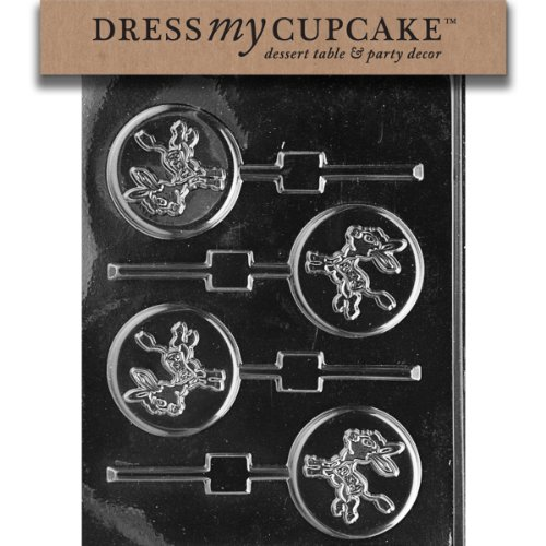 - Dress My Cupcake DMCA093 Chocolate Candy Mold, Democratic Party Donkey Lollipop