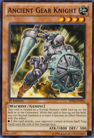 - Yu-Gi-Oh! - Ancient Gear Knight (BP02-EN056) - Battle Pack 2: War of the Giants - 1st Edition - Common