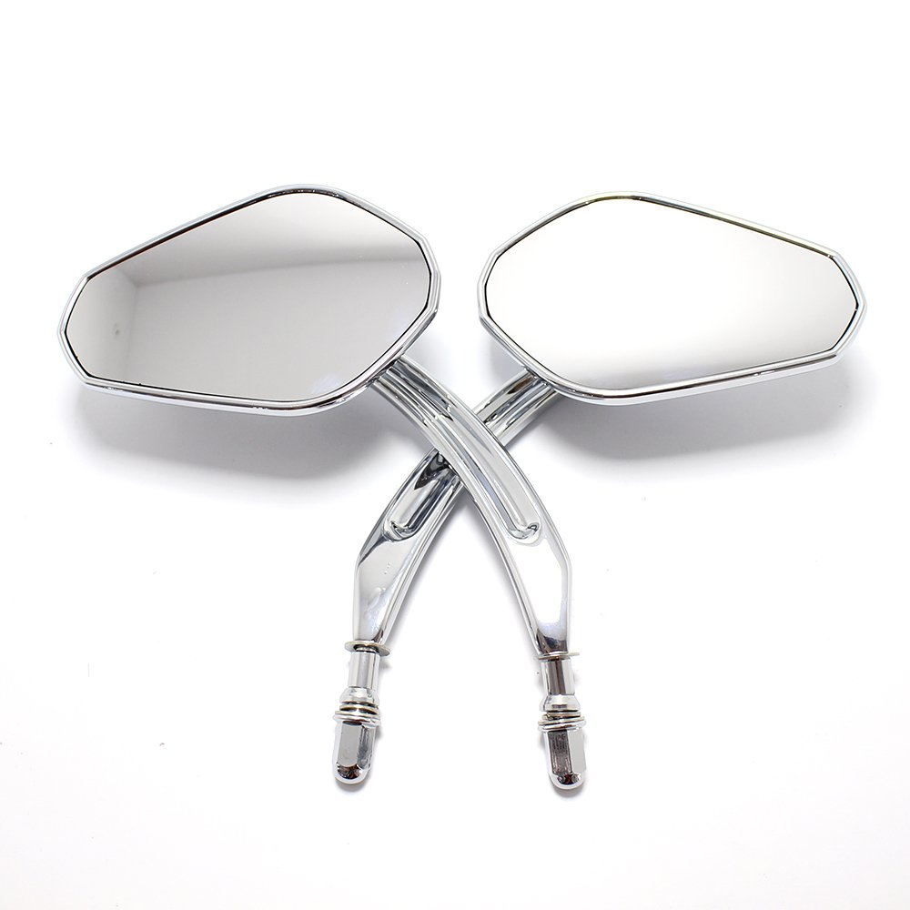 8mm Chrome Motorcycle Aluminum Rearview Wide Sight Mirrors For Harley Davidson Dyna Softail Sportster XL 883 1200