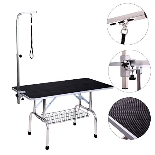 Dog Grooming Table, Adjustable Arm and Clamp for Pet, Grooming Table with Grooming Loop (48'' x 24'') by Haige Pet