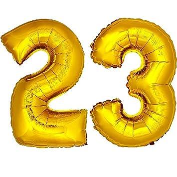 Amazon.com: DekoRex Foil Mylar Balloons 40 100cm Numbers ...