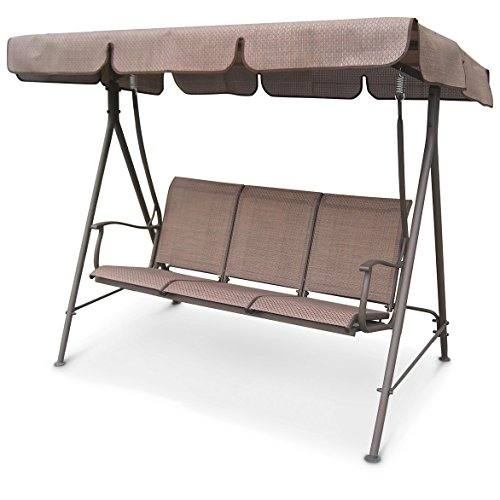 CASTLECREEK Canopied Porch Swing, 3 Person