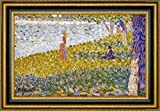 """This 32.25"""" x 47.25"""" premium giclee canvas art print of Women On The River Bank by Georges Seuratis meticulously created on artist grade canvas utilizing ultra-precision print technology and fade-resistant archival inks.Every detail of the artwork ..."""