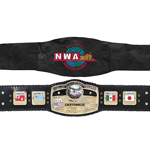 Athletic Heavyweight Belt (N.W.A Wrestling World Heavyweight Championship Ultra Deluxe Adult Size Replica Belt)