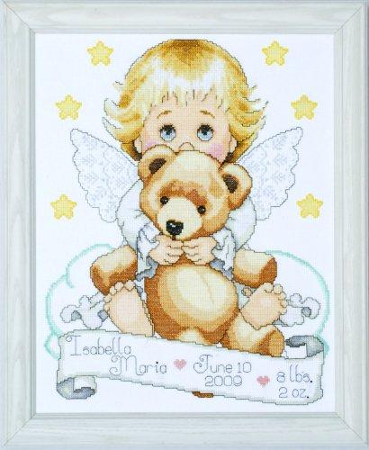 "Tobin Angel Birth Record Counted Cross Stitch Kit, 11"" x 14"""