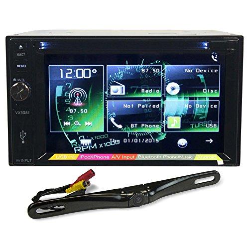 "Jensen VX3022 6.2"" In-Dash Player/DVD/iPod/iPhone/Bluetooth+License Plate Camera"