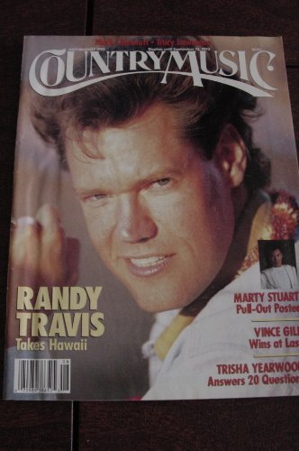 COUNTRY MUSIC magazine July/August 1992 (Number 156, Mark Chesnutt, Tracy Lawrence, Randy Travis on cover, Marty Stuart Pull-Out Poster, Vince Gill, Trisha - Country Music Magazine