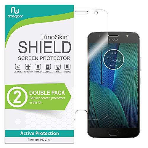 Motorola Moto G5S Plus Screen Protector [2-Pack] RinoGear Case Friendly Screen Protector for Motorola Moto G5S Plus Accessory Full Coverage Clear Film