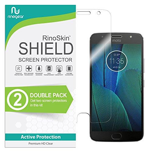 Motorola Moto G5S Plus Screen Protector [2-Pack] RinoGear Case Friendly Screen Protector for Motorola Moto G5S Plus Accessory Full Coverage Clear Film