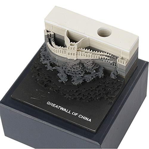 Modelo arquitectónico 3D adhesivas Pegatinas de conveniencia Papeles Tarjeta creativas Blocs notas Novedad Papel Aviso...