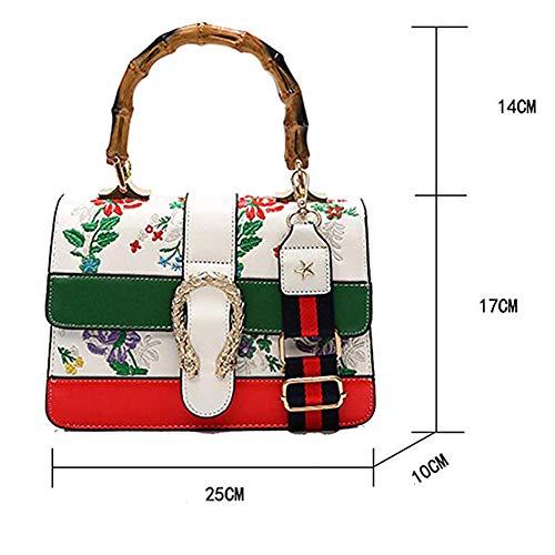 Borsetta Borsa Moda Internazionale Bag Da Sacchetti New Ricamo Donna Cartella Nero Famoso Stelle Marchio xTpRpYwq