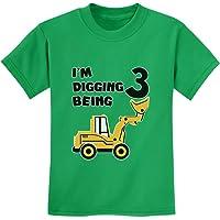 Tstars - 3rd Birthday - Bulldozer Construction Party Toddler Youth Kids T-Shirt