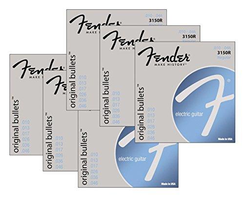 Fender 3150R 6-Pack Original Bullets Pure Nickel Wound Guitar Strings - Regular