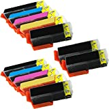 12 Inkfirst® 410XL Ink Cartridges Compatible Remanufactured for Epson 410XL Black Photo Black Cyan Magenta Yellow (2 Set + 2 Black) For Expression XP-530 XP-630 XP-640 XP-830 T410XL0, T410XL1, T410XL2, T410XL3, T410XL4