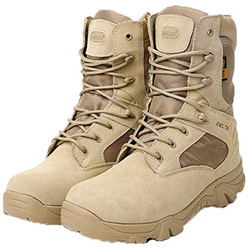 LiliChan Uomo Stivali tattici Delta Zip laterale Militare Lavoro 8 pollici Esercito Scarpe Sabbia