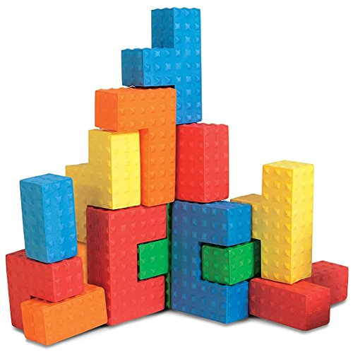 Edushape Easy Grip Soft Foam Sensory Puzzle Blocks 18 Piece