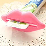 Gaddrt Toothpaste Squeezer Creative Multi-purpose Squeeze Lips Toothpaste Extruder - Plastic (Pink)