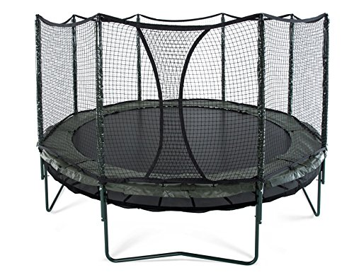 JumpSport 14' DoubleBounce | AlleyOOP Trampoline with Enclosure | Double the Safety, Double the Fun | 50+ Patent & Safety Innovations | Lifetime Frame Warranty by JumpSport (Image #4)