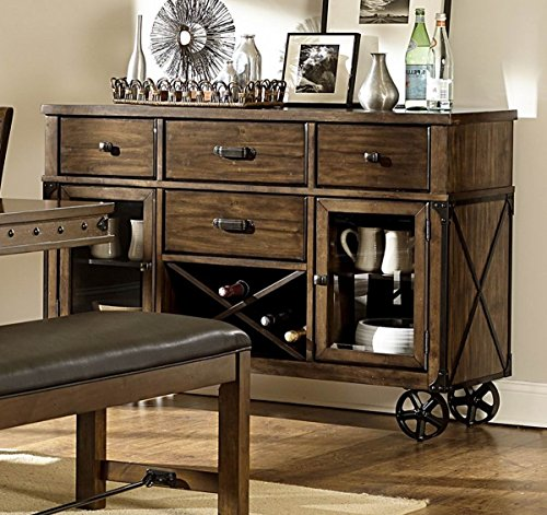 Rustic Turnbuckle Dining Room Furniture In Burnished Oak Server