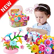 Gili Girl Garden Building Toys - Growing Stacking Games for Toddler, Educational Pretend Play Gift for Kids Ag