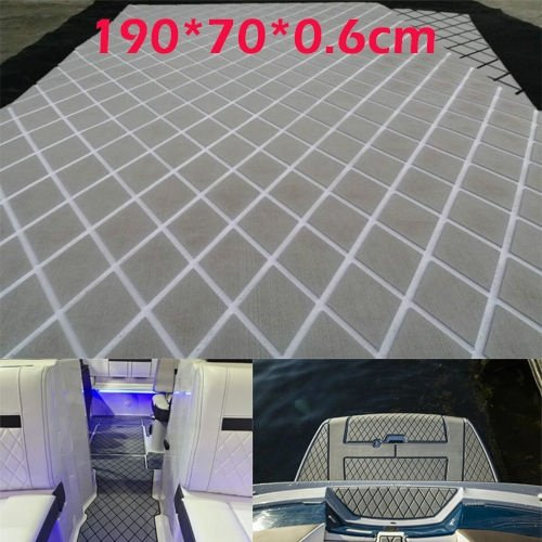 Details of 6 mm Thickness Grey 28 inches x 75 inches Eva Foam Comprehensive Teak Decorative Teak Yacht, Grey - White