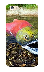 Awesome 2235b5a4007 Blackducks Defender Tpu Hard Case Cover For Iphone 6- Salmon Fish River