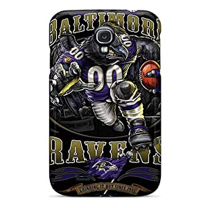 Protective Cell-phone Hard Covers For Samsung Galaxy S4 With Customized High-definition Baltimore Ravens Image AlissaDubois