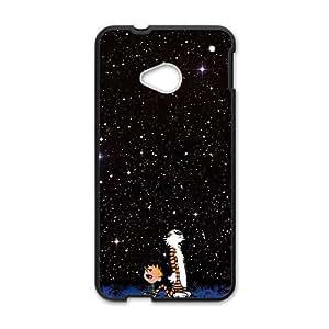 Cartoon Galaxy Star Sky Black HTC M7 case