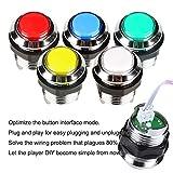 Fosiya 2 Player Arcade Joystick LED Chrome Buttons