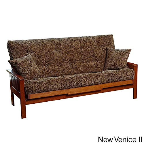 Futon Venice (Royal Sleep Products Queen 9 Layer Futon Mattress w/Pillows Included New Venice Ii)