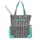 Ame and Lulu Black Shutters Tennis Tote Bag